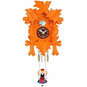 Trenkle Kuckulino Schwarzwalduhr mit Quarzwerk und Kuckuckruf, orange TU 2002 SQ orange