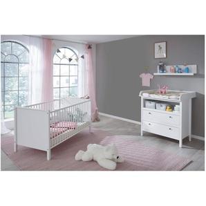 JUSTyou Fauro Kinderzimmer-Set Kinderzimmermöbel Komplett Weiß