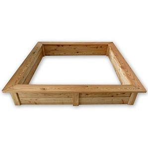 Gartenpirat Sandkasten 150x150 cm aus Holz 21 mm Lärchenholz Wetterfest