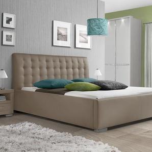 Polsterbett Baskerville Komfort Meise Möbel - 100x200 cm - braun