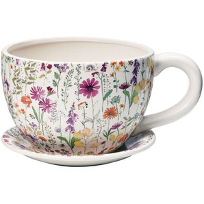 Butlers Plant A Cup Pflanztasse Blumendekor weiss