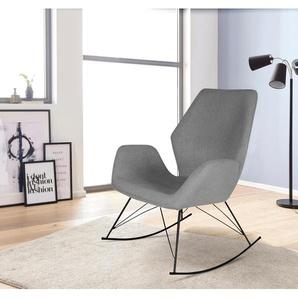 Homexperts Schaukel-Stuhl, grau, Gestell aus Metall