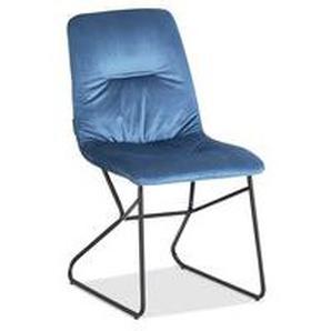 Manotti - Stuhl hellblau Velvet