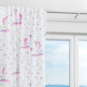 Dekoschal von LYSEL® Einhorn Tiere in den Maßen Breite: 135cm Höhe: 245cm in Rosa/multicolor