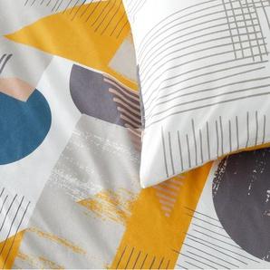 Axle 100 % Baumwolle Bettwaescheset (240 x 220 cm), Mehrfahrbig