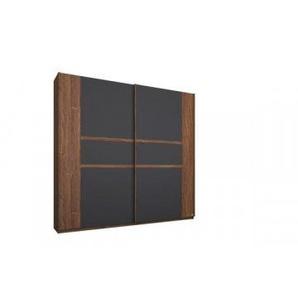 Schwebetürenschrank Bernau Eiche-Stirling Nachbildung/grau metallic 226 cm