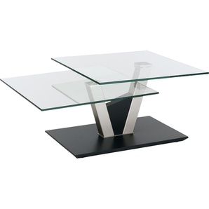 Vierhaus Couchtisch, transparent, pflegeleichte Oberfläche, Gestell aus Metall