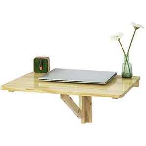 SoBuy® Wandklapptisch, Küchentisch, Kindermöbel, Laptoptisch, Esstisch, Schreibtisch, 60x40cm, Natur, FWT03-N