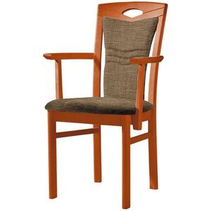 Stuhl  Cristal ¦ braun ¦ Maße (cm): B: 60 H: 100,5 T: 58 Stühle  Esszimmerstühle  Esszimmerstühle mit Armlehnen » Höffner