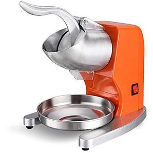 Lxn Ice Shaver Machine Elektrische Schneekonus-Hersteller Edelstahl Rasierte Eismaschine Orange 200lbs pro Stunde (Erhöhung)