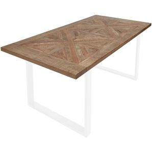 Valdera: Tischplatte, Mangoholz, Hellbraun, B/H/T 100 3,8 200