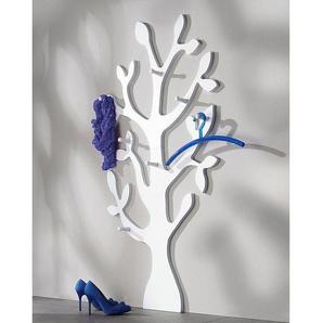 Wandgarderobe mit 7 Haken, weiß, 80/10/150cm, »Baum«, FSC®-zertifiziert, weiß