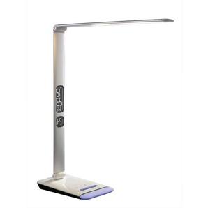 casaNOVA dimmbare LED Schreibtischlampe EDGE Silberfarbig