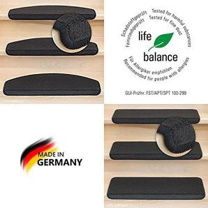 Kettelservice-Metzker Stufenmatten Vorwerk Uni Anthrazit Einzeln und Sparsets 14 Stück Halbrund