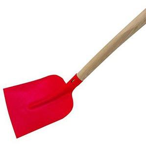 Xclou Holsteiner Schaufel in Rot aus Stahl, Gartenschaufel mit Holzstiel, Bauschaufel mit optimaler Kraftübertragung, Größe 2, Gesamtlänge: ca. 150 cm