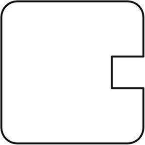 Sichtschutzzaun / Selbstbauzaun Gardo Endpfosten Lärche 180x9x9cm