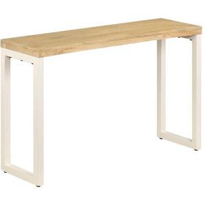 Konsolentisch 120 x 35 x 76 cm Mango-Massivholz und Stahl - VIDAXL