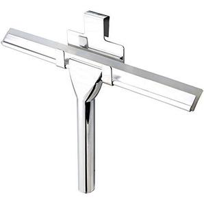 Antikalkblitz Dusch-Abzieher Fenster-Abzieher Wasser-Abzieher aus Edelstahl mit Halterung | Badezimmer Zubehör Ohne zu Bohren | Weiche Gummi-Lippe wechselbar