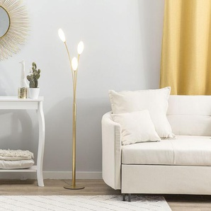 Stehlampe LED gold 145 cm KEGART