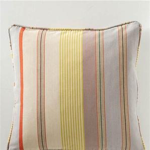 Streifenkissenhülle Malin - bunt - 100 % Baumwolle - Vorhänge - Kissenbezüge - Gardinen - Schlaufenschals