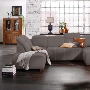 Premium Collection By Home Affaire Wohn-Landschaft »Spirit« mit Bettfunktion, grau, komfortabler Federkern, hoher Sitzkomfort