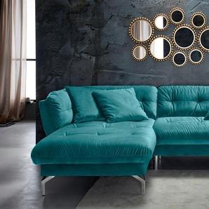 Inosign Ecksofa, grün, hoher Sitzkomfort