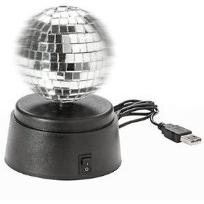 USB Spiegelkugel Discokugel Selbstdrehende Spiegel Kugel Gadget Lampe für Disco Flair