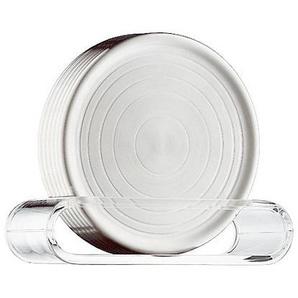WMF Untersetzer 6 Stück LOFT BAR Silber Ø 9,5 cm