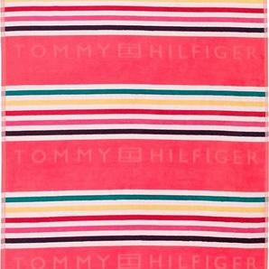 Strandtuch »Graphic«, TOMMY HILFIGER, mit bunten Streifen