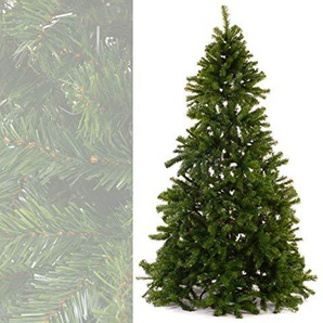 MACO Import Künstlicher Weihnachtsbaum 210 cm hoch - Plastik Tannenbaum mit 1274 Spitzen und Metallfuß