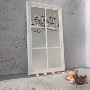 Vintage Wandpiegel CASTILLO 105x65cm weiß Shabby Chic Standspiegel