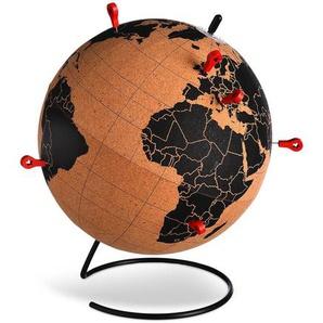 Globus mit 6 Pins, D:20cm, natur