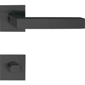 Solido Türbeschlag Malmö | Türgriff auf Flachrosette, eckig WC | schwarz