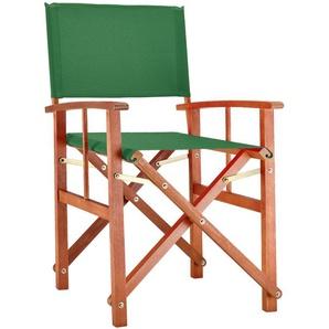 Deuba® Gartenstuhl Cannes FSC®-zertifiziertes Eukalyptusholz faltbar Klappstuhl Holz Stuhl Regiestuhl Grün