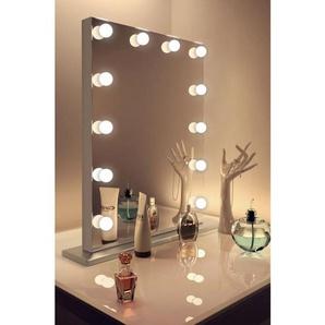 Diamond X Silver Edge Audio Hollywood Make-up Spiegel mit WW LED k83MWWaud - DIAMOND X COLLECTION