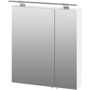 Spiegelschrank KALKUTTA-04 weiß glanz, LED, BxHxT: ca. 60x71-75x16cm