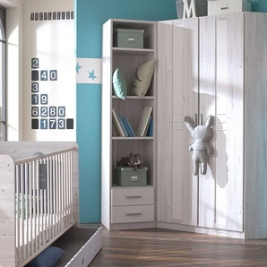 Baby-Kleiderschrank, Eiche weiß, weitere Farben & Größen bei BETTEN.de