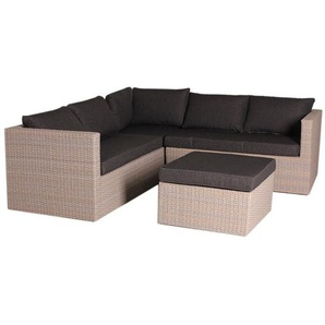 OUTLIV. Gibson Loungeecke 3-teilig Geflecht Mixed Brown/Royal Blended Black