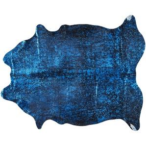 Rinderfell - Unikat  Pop Art ¦ blau ¦ Rinderfell Teppiche  Auslegware » Höffner