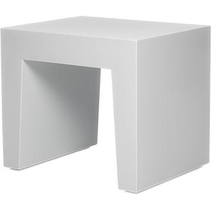 Concrete Seat Hocker Light Grey