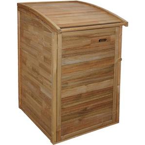Andrewex Mülltonnenbox 130/117 cm x 75 cm x 90 cm KDI Braun