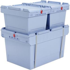 BITO-Lagertechnik Mehrwegbehälter MB Deckel/Bügel/Kufe / MBDU84421 800x400x423 taubenblau Deckel u