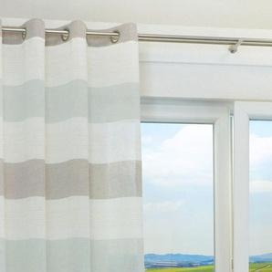 Ösenschal von LYSEL® Brick Formen in den Maßen Breite: 145cm Höhe: 245cm in Blau/blau-braun
