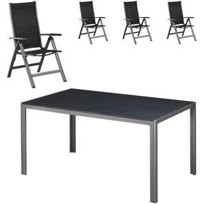 Gartenmöbel-Set Chicago/Las Vegas (90x150, 4 Stühle)