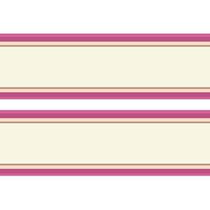 wandmotiv24 Bordüre Streifen rosa Borde Wandborde 260cm Breite - Papier Borte Tapetenbordüre Bordüren