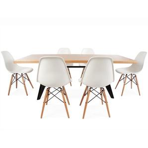 Eß-Tisch Prouvé mit 6 Stühlen
