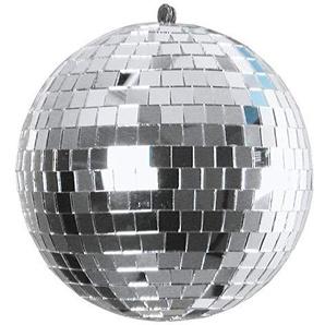 Eurolite Spiegelkugel 15cm | Klassische Discokugel | mit stabilem Kunststoffkern | Lückenlose Verklebung | Echtglasfacetten