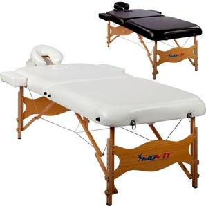 MOVIT® Deluxe Massageliege 80 cm breit Massagetisch, weiß