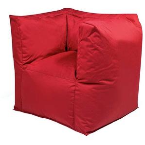 Sitzsack Sessel in Rot Outdoor