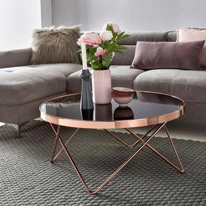 Home Affaire Couchtisch »REVAN«, braun, pflegeleichte Oberfläche, Gestell aus Metall
